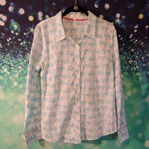 Crown & Ivy bicycle blouse size med